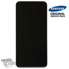 Ecran LCD + Vitre Tactile + châssis noir Samsung Galaxy A40 A405F (officiel)