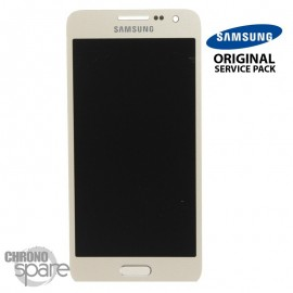 Vitre tactile + écran LCD Samsung Galaxy A300F (officiel) GH97-16747F Or