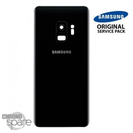 Vitre arrière+vitre caméra noir (officiel) Samsung Galaxy S9 G960F