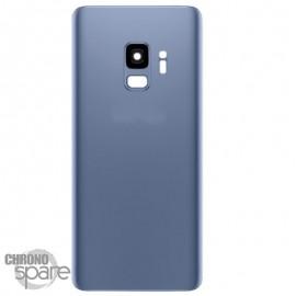 Vitre arrière+vitre caméra Bleue (compatible) Samsung Galaxy S9 G960F