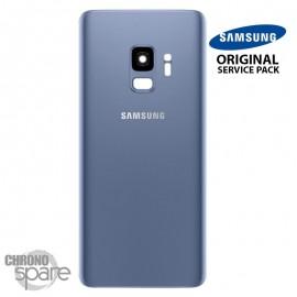 Vitre arrière+vitre caméra bleu (officiel) Samsung Galaxy S9 G960F