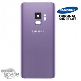 Vitre arrière+vitre caméra violet (officiel) Samsung Galaxy S9 G960F