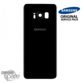 Vitre arrière+vitre caméra Noir Carbone (officiel) Samsung Galaxy S8 + G955F