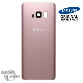 Vitre arrière + vitre caméra Rose (officiel) Samsung Galaxy S8 Plus G955F