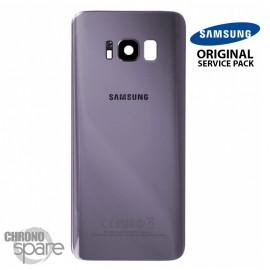 Vitre arrière + vitre caméra Orchidée (officiel) Samsung Galaxy S8 Plus G955F