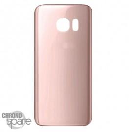 Vitre arrière Or Rose Samsung Galaxy S7 Edge G935F