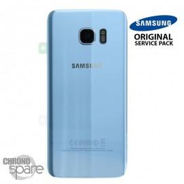 Vitre arrière + vitre caméra Bleu Corail (officiel) Samsung Galaxy S7 Edge G935F