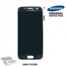 Ecran LCD + Vitre Tactile noire Samsung Galaxy S7 G930F (officiel) GH97-18523A