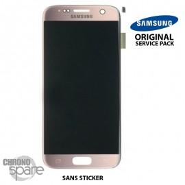 Ecran LCD et Vitre Tactile Or Rose Samsung S7 G930F (officiel) GH97-18523E