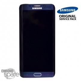 Vitre tactile + Ecran LCD + Châssis Samsung Galaxy S6 Edge Bleu/Noir (G925F) GH97-17162A (officiel)