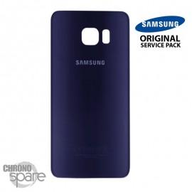 Vitre arrière Samsung S6 edge G925F bleu/noir (officiel)