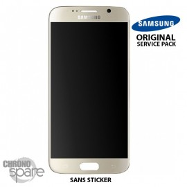 Vitre tactile + écran LCD Samsung Galaxy S6 (G920F) Or GH97-17260C (officiel)