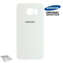 Vitre arrière Samsung S6 G920F blanc (officiel)