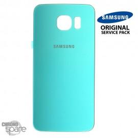 Vitre arrière Samsung S6 G920F bleu turquoise (officiel)