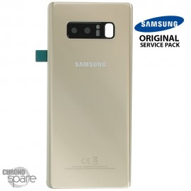 Vitre arrière Samsung Galaxy Note 8 SM-N950F (officiel) Or