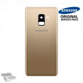 Vitre arrière+vitre caméra Or (officiel) Samsung Galaxy A8 A530F