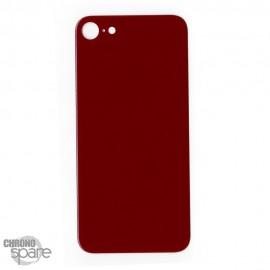 Plaque arrière en verre iPhone 8 rouge (pour machine laser)
