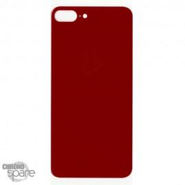 Plaque arrière en verre iPhone 8 plus rouge (pour machine laser)