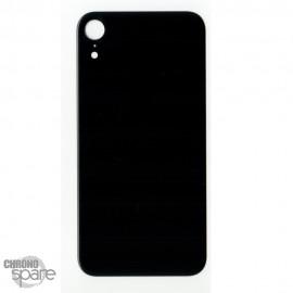Plaque arrière en verre iPhone XR noir (pour machine laser)