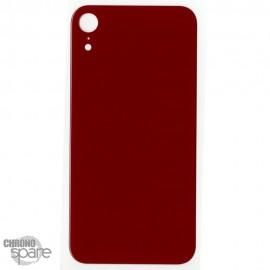 Plaque arrière en verre iPhone XR rouge (pour machine laser)