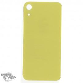 Plaque arrière en verre iPhone XR jaune (pour machine laser)