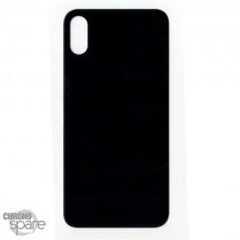 Plaque arrière en verre iPhone XS noir (pour machine laser)
