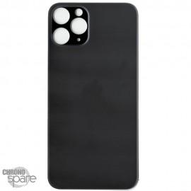 Plaque arrière en verre iPhone 11 PRO noir (pour machine laser)