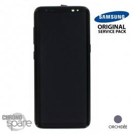 Ecran LCD + Vitre Tactile Orchidée Samsung Galaxy S8 G950F (officiel)