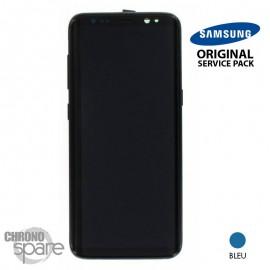 Ecran LCD + Vitre Tactile + châssis Bleu Océan Samsung Galaxy S8 G950F (officiel)
