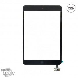 Vitre tactile noire + bouton home + scotch 3M iPad Mini 1/2 OEM