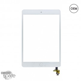 Vitre tactile blanche + bouton home + scotch 3M iPad Mini 1/2 OEM