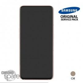 Ecran LCD + Vitre tactile + châssis or Samsung Galaxy A80 A805F (officiel)