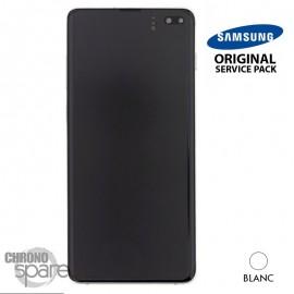 Ecran LCD + Vitre Tactile + châssis blanc Samsung Galaxy S10 Plus G975F (officiel)