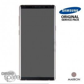 Vitre tactile et écran LCD Samsung Galaxy Note 9 SM-N960 (officiel) Marron