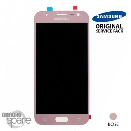 Ecran LCD + Vitre Tactile rose Samsung Galaxy J3 2017 J330F (officiel)
