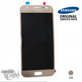 Ecran LCD + Vitre tactile or (officiel) Samsung J3 2017 J330F