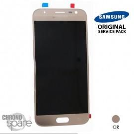 Ecran LCD + Vitre tactile or (officiel) Samsung J3 2017 J330F