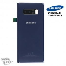 Vitre arrière + Vitre caméra Bleu Samsung Galaxy Note 8 SM-N950F (officiel)