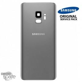Vitre arrière + vitre caméra Gris Titanium Samsung Galaxy S9 G960F (Officiel)
