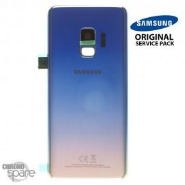 Vitre arrière + vitre caméra Bleu polaire Samsung Galaxy S9 G960F (Officiel)