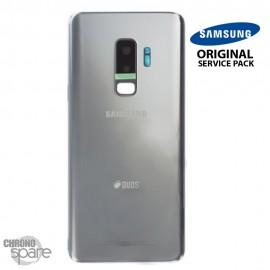 Vitre arrière + vitre caméra Gris Titanium Samsung Galaxy S9 PLUS G965F (Officiel)