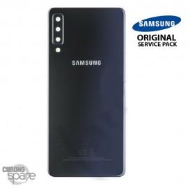 Vitre arrière + vitre caméra Noir Samsung Galaxy A7 2018 SM-750F (Officiel)