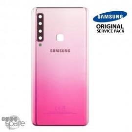 Vitre arrière + vitre caméra Rose Samsung Galaxy A9 2018 A920F (Officiel)