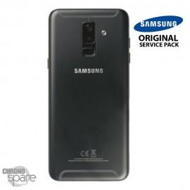 Vitre arrière + vitre caméra Noir Samsung Galaxy A6 Plus 2018 A605F (Officiel)