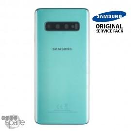 Vitre arrière + vitre caméra Vert Samsung Galaxy S10 G973F (Officiel)