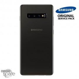 Vitre arrière + vitre caméra Noir Prisme Samsung Galaxy S10 PLUS G973F (Officiel)