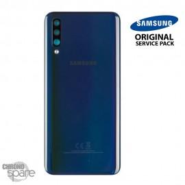 Vitre arrière + vitre caméra Noir Samsung Galaxy A50 A505F (Officiel)