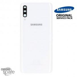 Vitre arrière + vitre caméra Blanc Samsung Galaxy A70 A705F (Officiel)