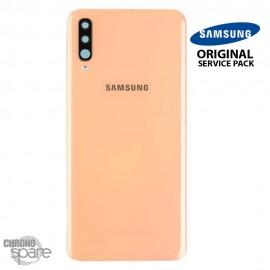 Vitre arrière + vitre caméra Corail Samsung Galaxy A70 A705F (Officiel)