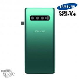 Vitre arrière + vitre caméra Vert Samsung Galaxy S10 PLUS G973F (Officiel)